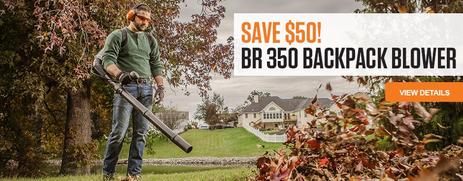 Save $50 on the BR 350 Backpack Blower